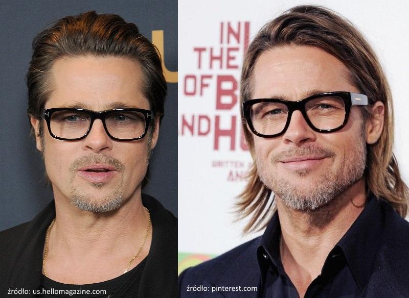 Brad Pitt w okularach