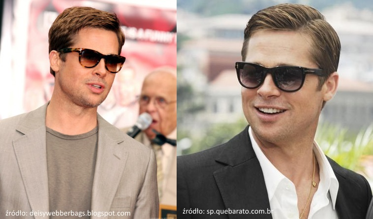 Brad Pitt w okularach przeciwsłonecznych