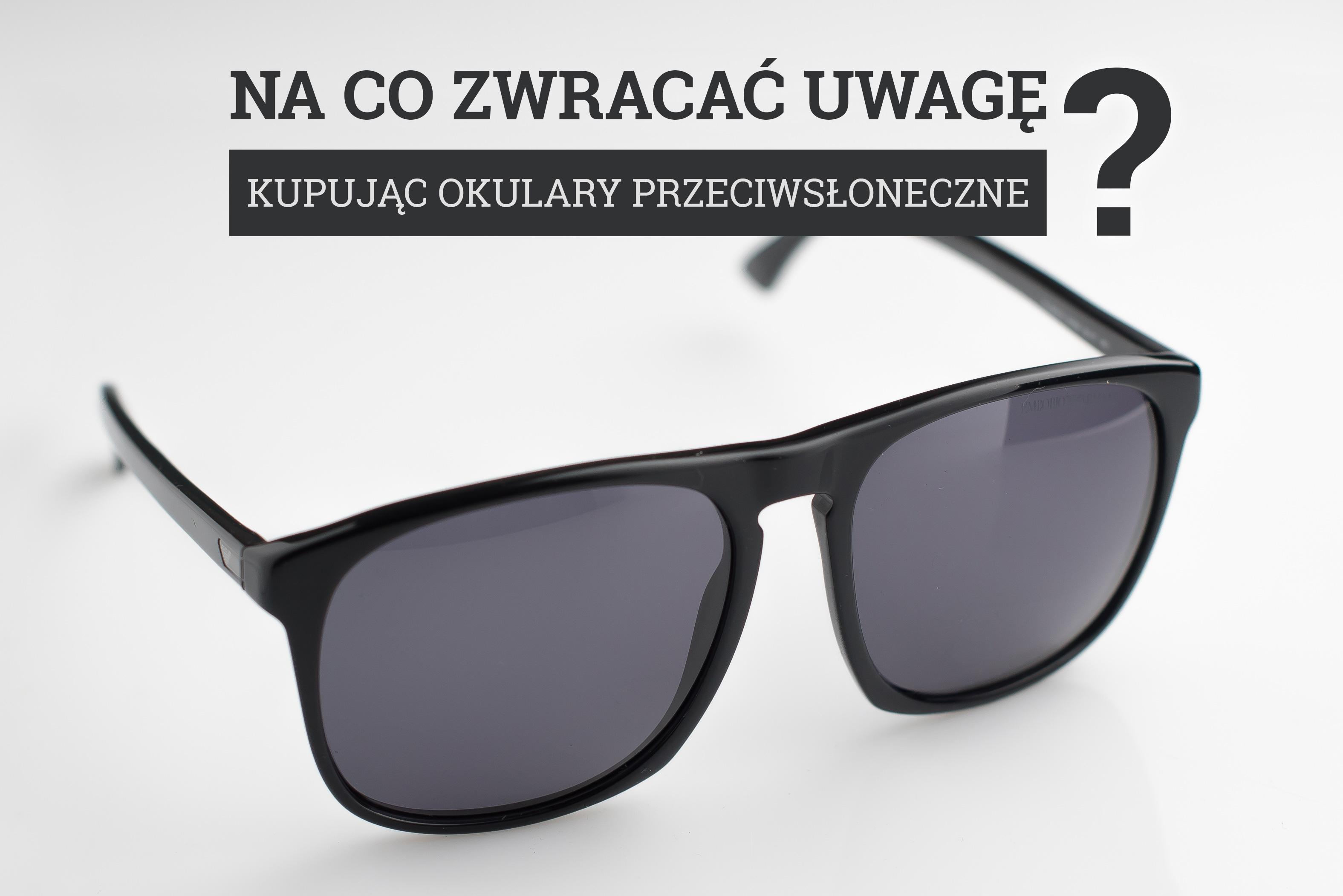 okulary przeciwsłoneczne - zakup