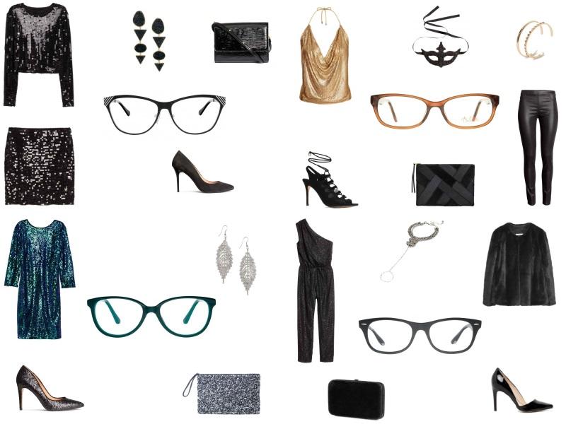 sylwestrowe stylizacje z okularami