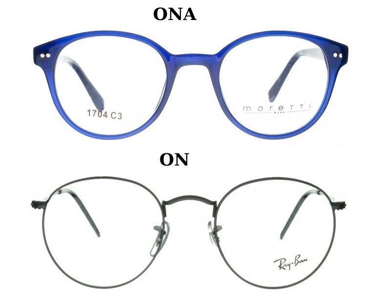 okulary okrągłe dla pary