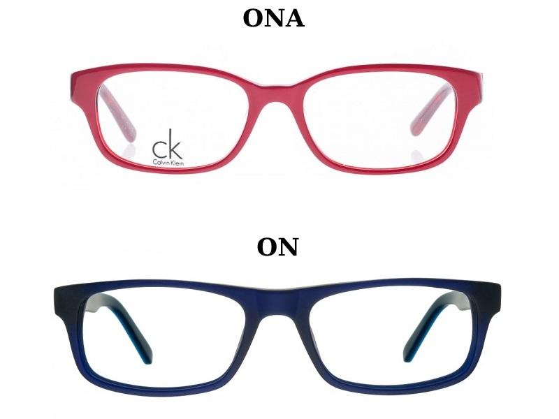 okulary prostokątne dla pary