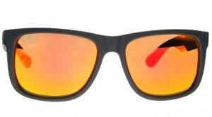 Pomarańczowe soczewki okularowe