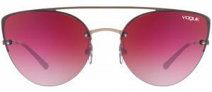 Różowe soczewki okularowe